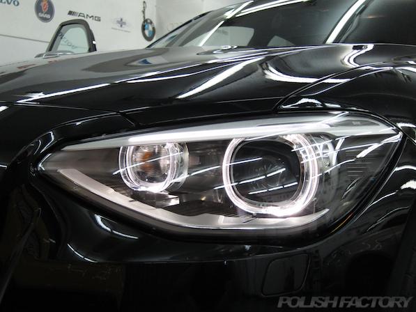 BMWM135iガラスコーティング施工、イカリング画像