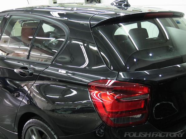 BMWM135iガラスコーティング施工、ガラスコーティング施工後の画像