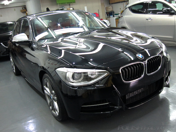BMWM135iガラスコーティング施工、ガラスコーティング施工後のキレイな画像