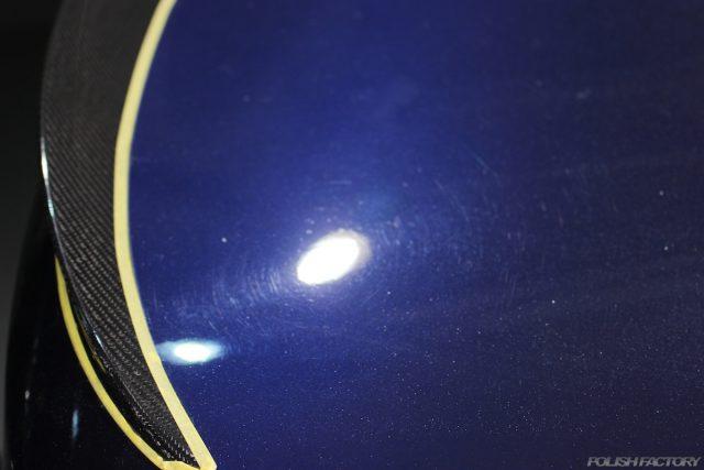 BMWの塗装面の傷既販車を磨いてコーティング施行画像