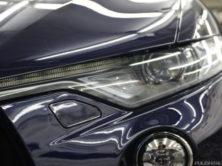 マセラティ・レヴァンテSの新車塗装にガラスコーティング、東京渋谷区施工事例
