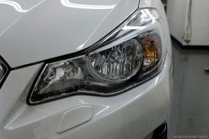 スバルXVの新車にコーティング施行、横浜市からお越しいただきました