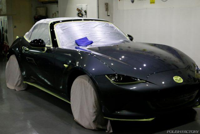 マツダロードスター、車のコーティング施工画像|磨き画像