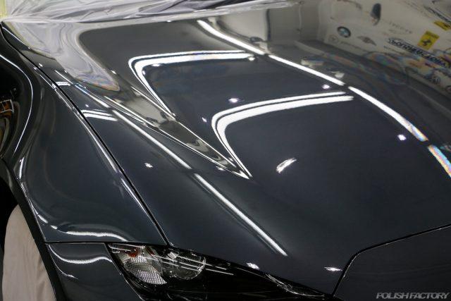 マツダロードスター、車のコーティング施工画像|鏡面画像