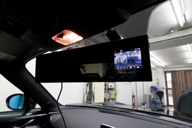 マツダロードスター、車のコーティング施工画像|ルームミラー