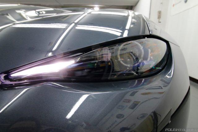 マツダロードスター、車のコーティング施工画像|ヘッドライト