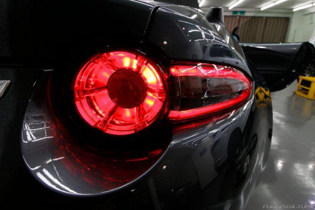 マツダロードスター、車のコーティング施工画像|テールレンズ