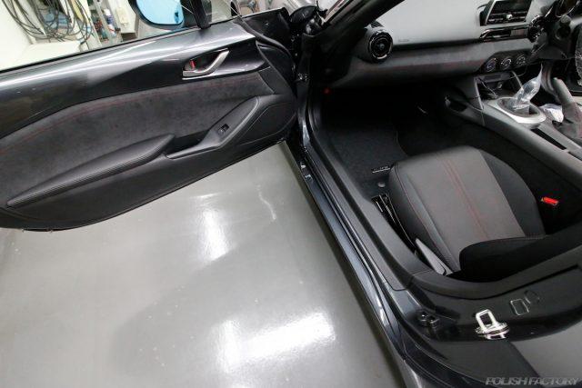 マツダロードスター、車のコーティング施工画像|内装