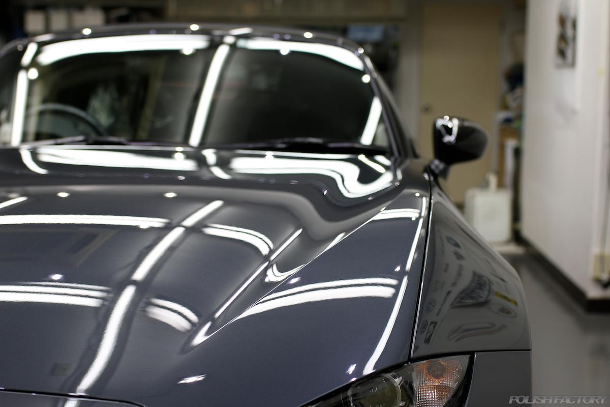 マツダ・ロードスターNR-Aの新車にガラスコーティング施行|横浜市よりお越しいただきました