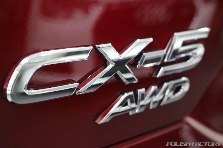 渋谷区よりマツダ・CX-5XD L-package 4WDの新車にガラスコーティング施工事例