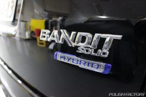 ソリオバンディット、ハイブリッドの新車にコーティング施工いたしました