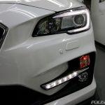 千葉県よりお越しのスバルレヴォーグ2.0STIの新車を最上級プレミアムコーティング施工画像です