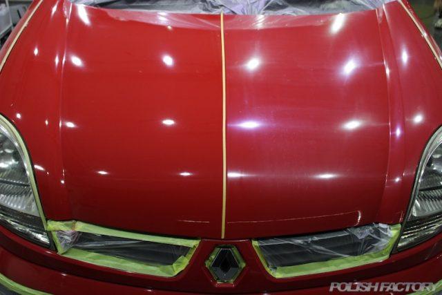 車磨き退色した赤