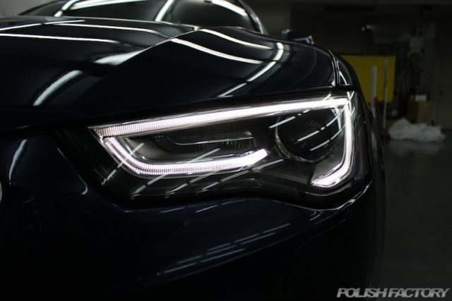 Audi A5カブリオレの磨きとコーティング施工画像