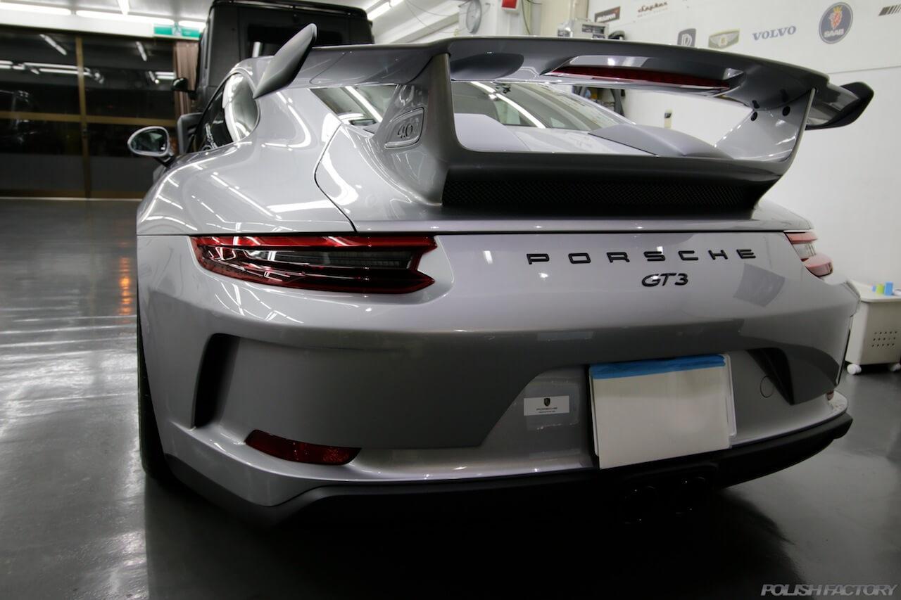 ポルシェ991 GT3磨きとコーティング