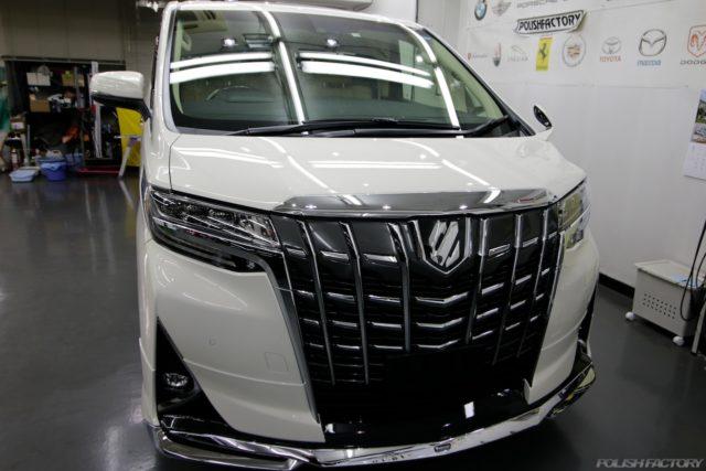 新車コーティングアルファードのディーラーコーティング