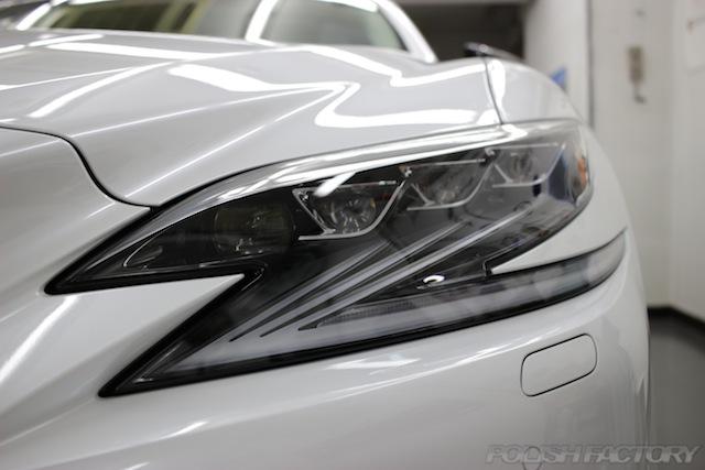 ガラスコーティング施工画像|レクサスLS500h EXECUTIVE|ヘッドライト