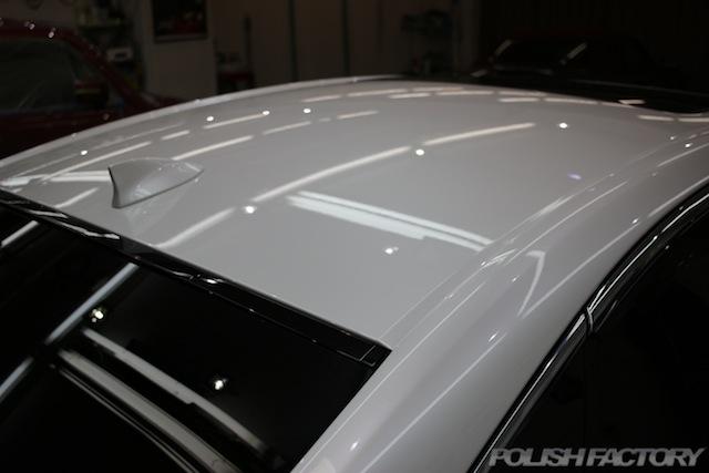 ガラスコーティング施工画像|レクサスLS500h EXECUTIVE|ルーフ