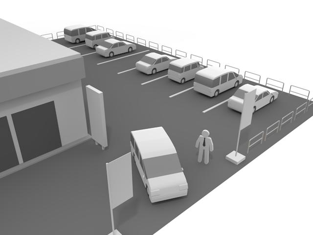 ディーラー駐車展示場のイメージ画像