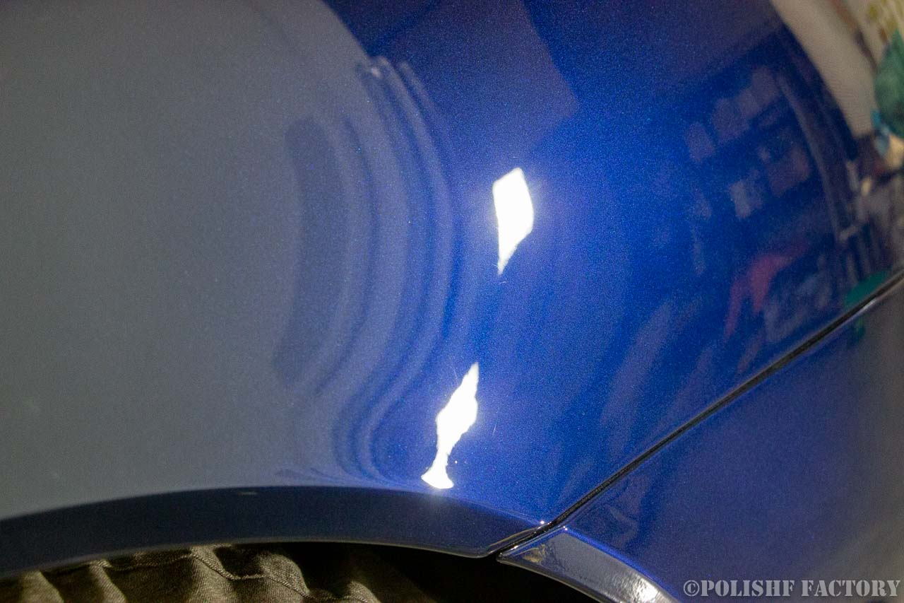 小山薫堂さんの愛車、ASTON MARTIN DB9の研磨下地処理後画像