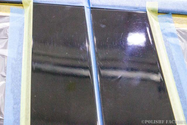 小山薫堂さんの愛車、MercedesBenz E63 AMGステーションワゴンのBピラー部傷画像