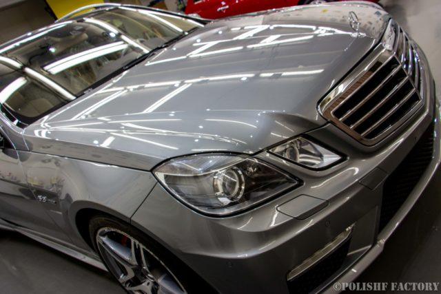 小山薫堂さんの愛車、MercedesBenz E63 AMGステーションワゴンのコーティング後の画像