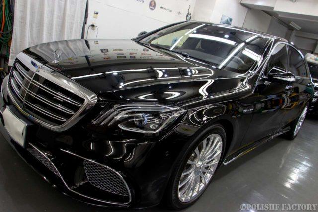 Mercedes-Benz磨きとコーティング施工後のキレイな画像