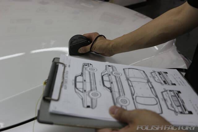 コーティング時に使用するカルテと膜圧管理の為の膜圧計画像