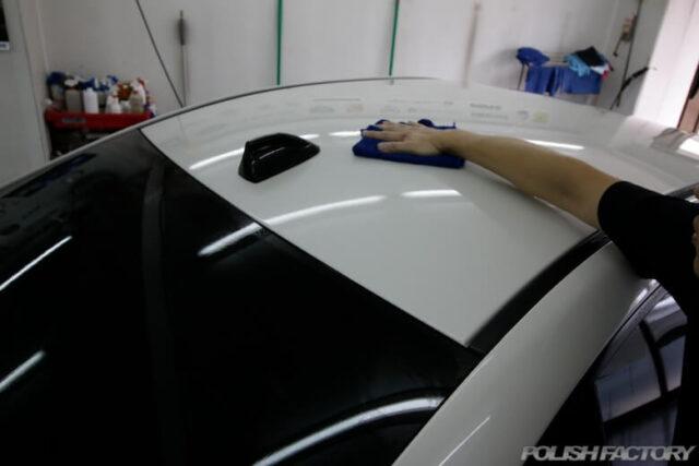 洗車中のルーフ画像
