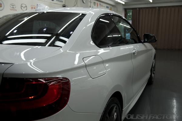 BMW M235iクーペ F22ガラスコーティング画像