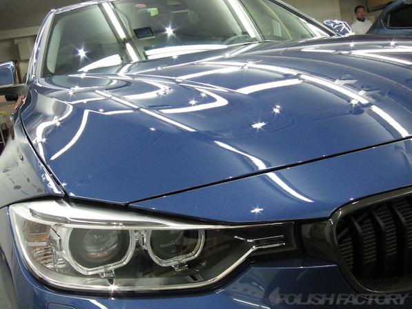 新車のBMWアルピナにポリッシュファクトリーの最強コーティング施工画像