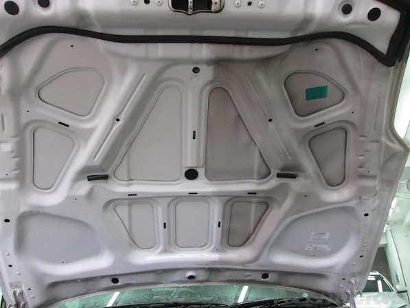 日産 フェアレディZ Z33ガラスコーティング施工ボンネット画像