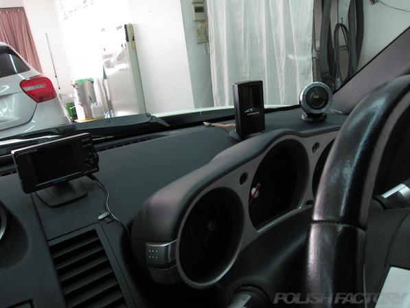 日産 フェアレディZ Z33ガラスコーティング施工ダッシュボード画像
