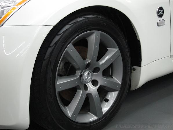 日産 フェアレディZ Z33ガラスコーティング施工アルミホィールコーティング完成画像