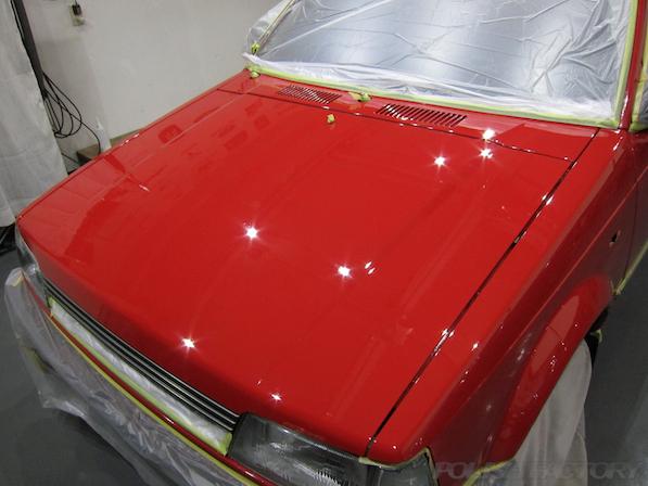 塗装面磨きシャレードCSコーティング画像