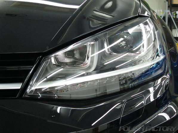 フォルクスワーゲン ゴルフRの新車にミリオンコーティング施工画像