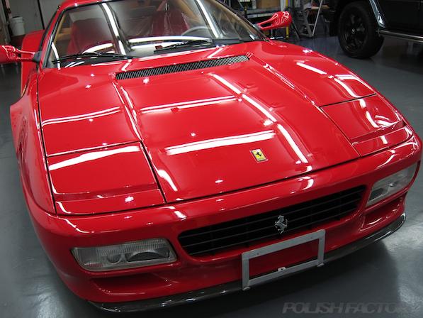 フェラーリFerrari512TRにガラスコーティング、磨き後画像