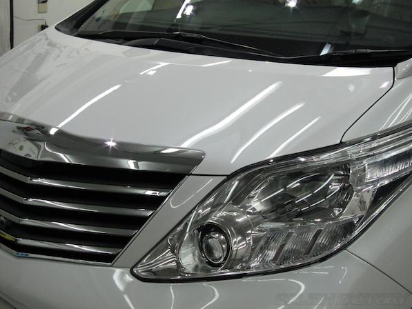 トヨタアルファードにガラスコーティング画像