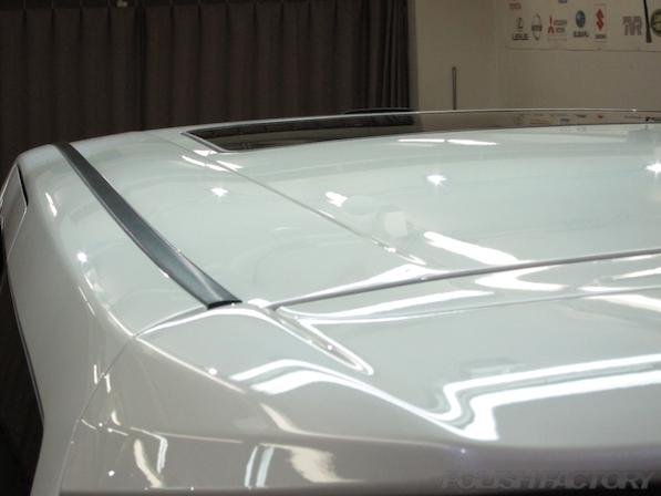 トヨタアルファードにガラスコーティング後ルーフ画像