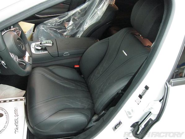 メルセデス・ベンツ S63 AMG 4マチックロングガラスコーティング施工、シート画像
