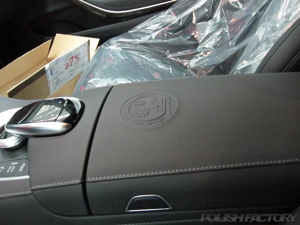 メルセデス・ベンツ S63 AMG 4マチックロングガラスコーティング施工、室内画像
