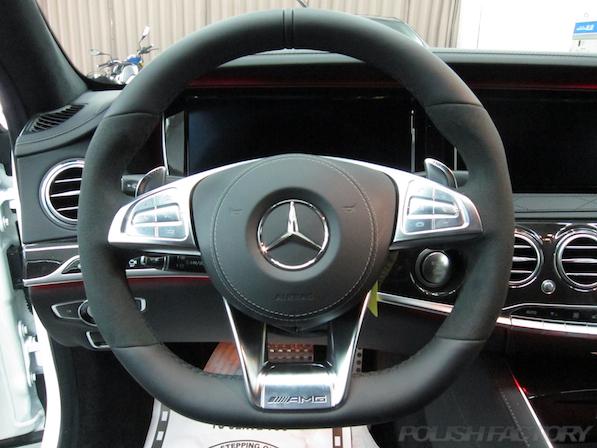 メルセデス・ベンツ S63 AMG 4マチックロングガラスコーティング施工、ハンドル画像