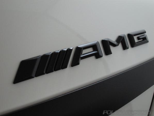 メルセデス・ベンツ S63 AMG 4マチックロングガラスコーティング施工、マットエンブレムAMG画像