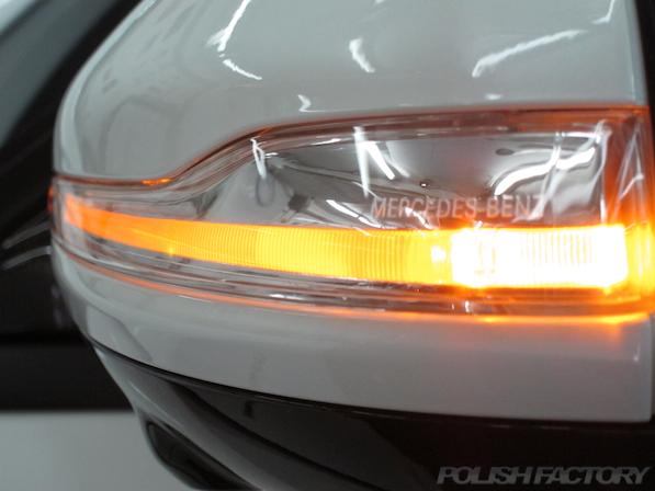 メルセデス・ベンツ S63 AMG 4マチックロングガラスコーティング施工、ドアミラー画像