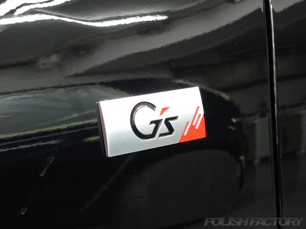 トヨタ マークX(MARK_X)350S G'sガラスコーティング、エンブレム画像