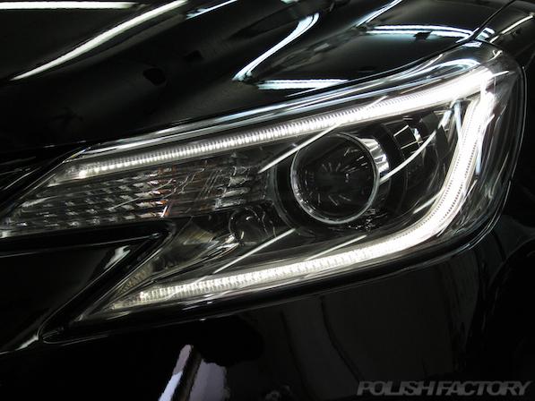 トヨタ マークX(MARK_X)350S G'sガラスコーティング、ヘッドライト画像