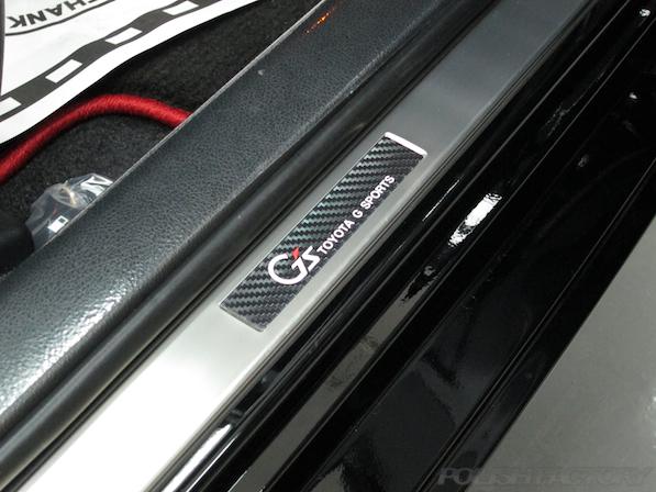 トヨタ マークX(MARK_X)350S G'sガラスコーティング、スカッフプレート画像