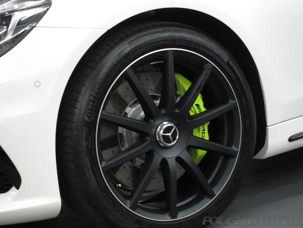 メルセデス・ベンツ S63 AMG 4マチックロングガラスコーティング施工、アルミホィールコーティング画像