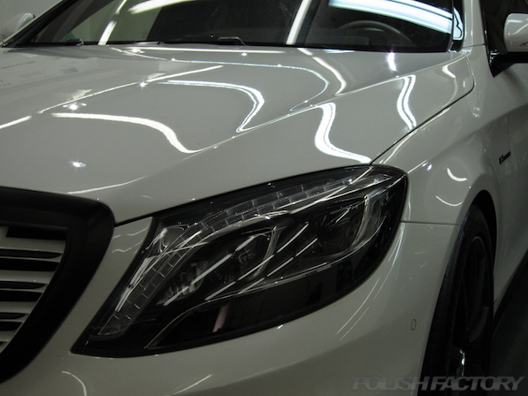メルセデス・ベンツ S63 AMG 4マチックロングガラスコーティング施工、コーティング施工後画像
