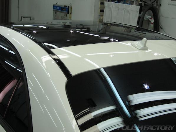 メルセデス・ベンツ S63 AMG 4マチックロングガラスコーティング施工、ウィンドー撥水コーティング全面画像